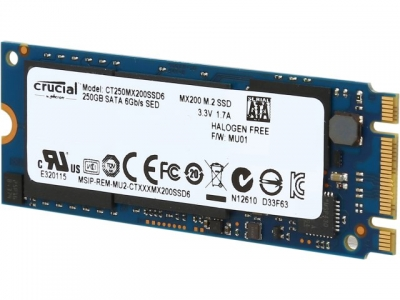 Crucial 250Gb MX200 M.2 2260 CT250MX200SSD6