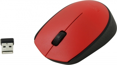 Мышь Logitech M171 Wireless Mouse Red